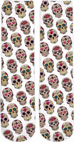 Candy Skulls Pattern Crew Socks