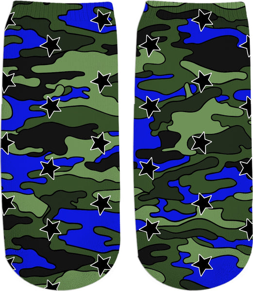 Camo Stars Ankle Socks