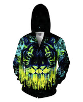 Tiger Drippy Zip-Up Hoodie