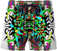 Super Trippy Psychedelic Crest Swim Shorts