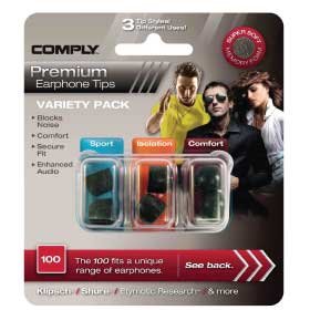 COMPLY - VARIETY PACK - SPORT / ISOLATION / COMFORT
