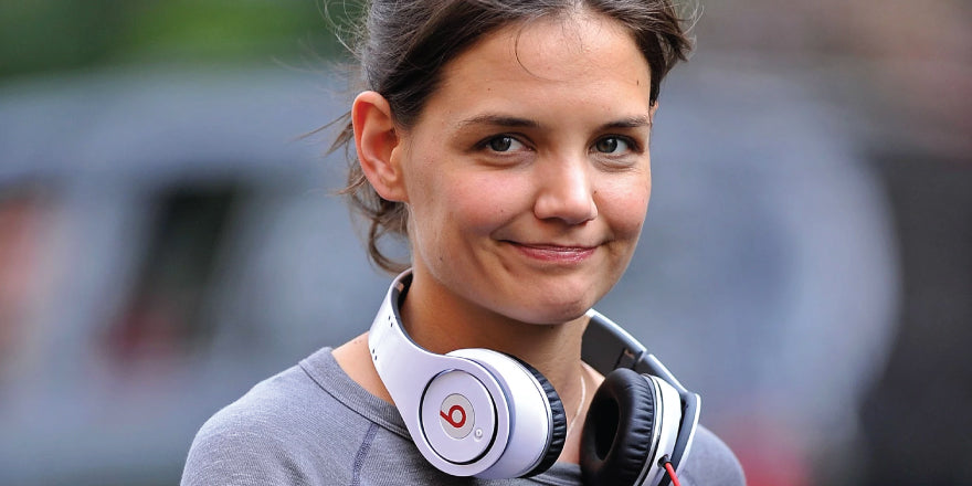 Katie Holmes Wearing Beats by Dr. Dre Studio
