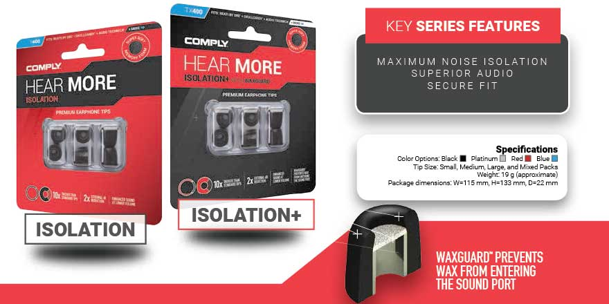Buy Comply Foam Eartips Isolation Series from headphonezone.in