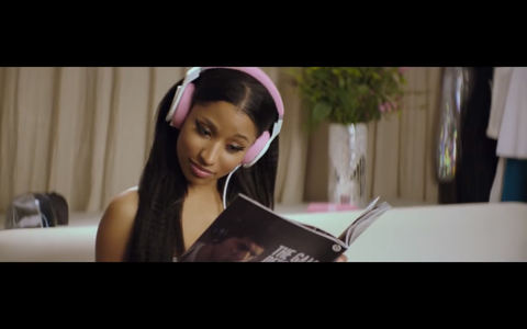 Nicki Minaj with Beats by Dr. Dre  Pro