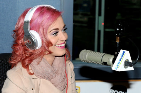Katy Perry Wearing Beats by Dr. Dre Pro