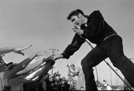 Elvis Presley with Shure Mic