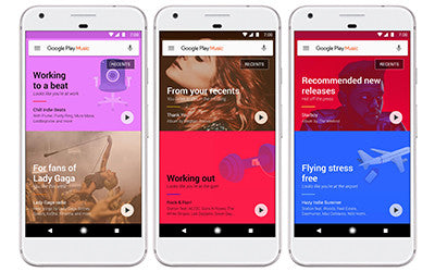 Headphone Zone Google Play Music interface