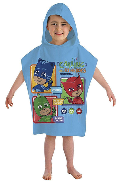 PJ MASKS ~ 'Calling All Heroes' Hooded Towel