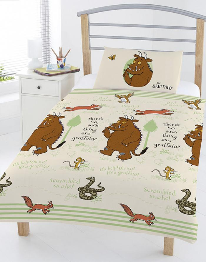 GRUFFALO ~ 'Woodland Scene' Toddler/Cot Bed Quilt Cover Set