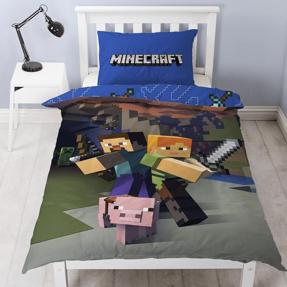 MINECRAFT ~ 'Goodguys' Single Bed Quilt Cover Set