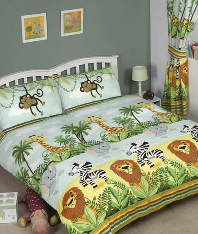 JUNGLE-TASTIC ~ Double/Queen Bed Quilt Cover Set