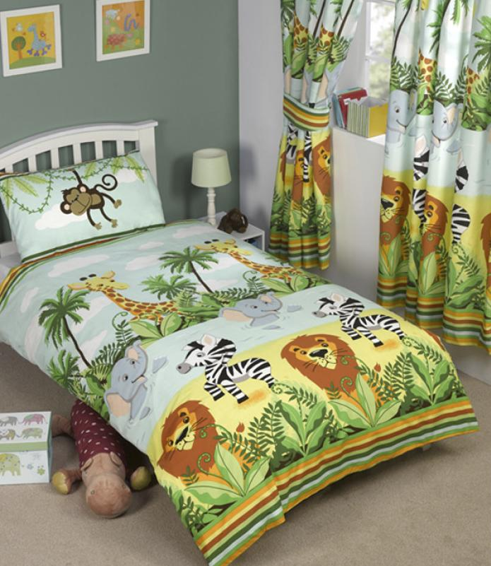 JUNGLE-TASTIC ~ Single Bed Quilt Cover Set