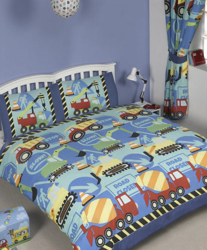 CONSTRUCTION TIME ~ Double/Queen Bed Quilt Cover Set