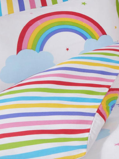 RAINBOW SKY ~ Toddler/Cot Bed Quilt Cover Set