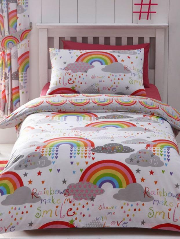 CLOUDS & RAINBOWS ~ Single Bed Quilt Cover Set