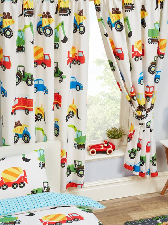 TRUCKS & TRANSPORT ~ Ready Made Lined Curtains