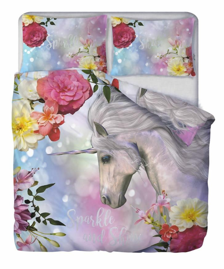 SPARKLE & SHINE UNICORN ~ Single Bed Quilt Cover Set