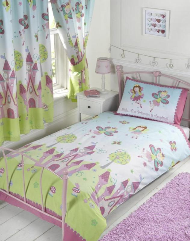 PRINCESS IS SLEEPING ~ Toddler/Cot Bed Quilt Cover Set