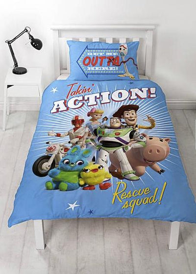 TOY STORY ~ 'Rescue' Single Bed Reversible Panel Quilt Set