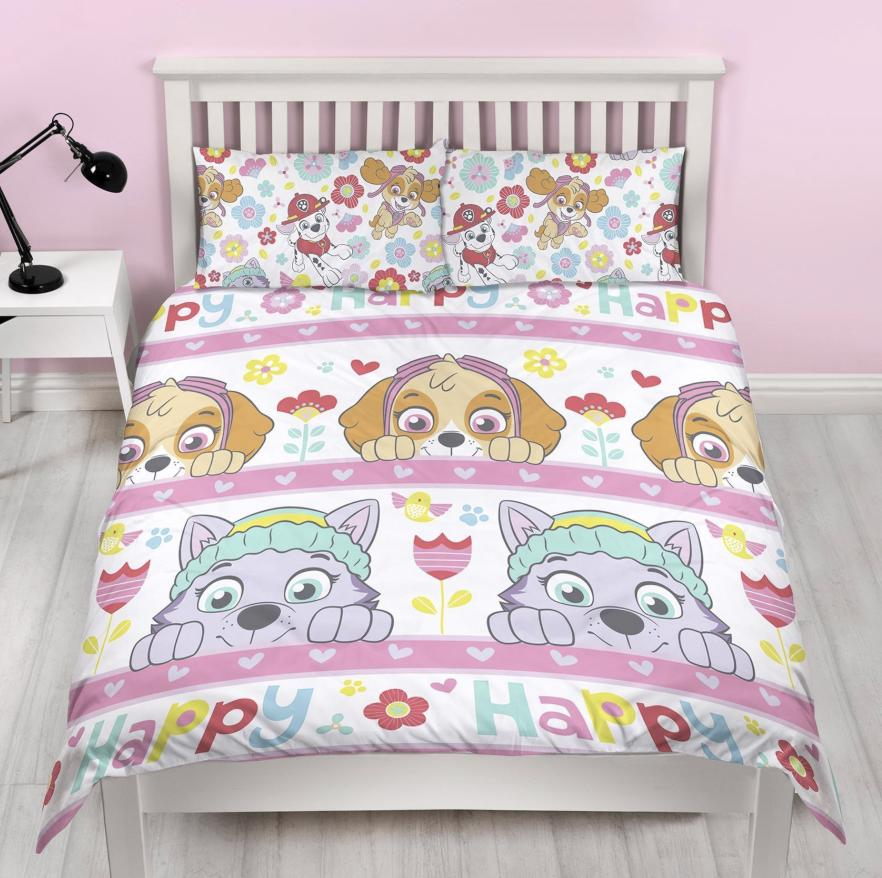 PAW PATROL ~ 'Bright' Double/Queen Reversible Bed Quilt Set