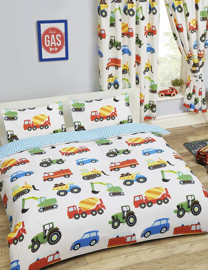 TRUCKS & TRANSPORT ~ Double/Queen Bed Quilt Cover Set