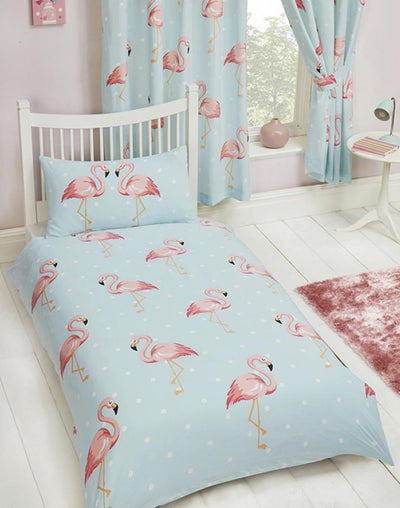FIFI FLAMINGO ~ Single Bed Quilt Cover Set