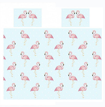 FIFI FLAMINGO ~ Double/Queen Bed Quilt Cover Set