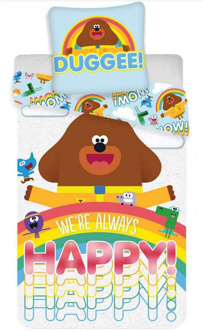 HEY DUGGEE ~ 'Happy' Single Bed Panel Quilt Cover Set
