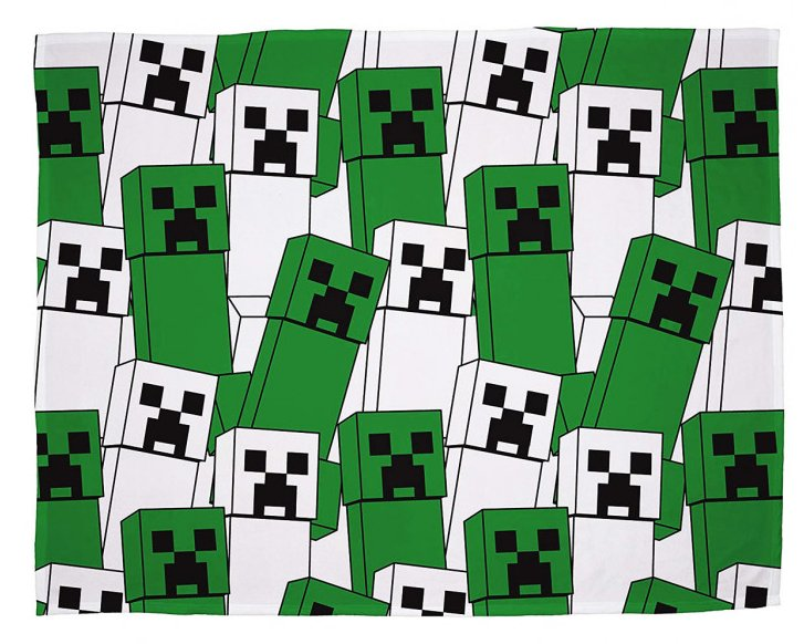 MINECRAFT ~ 'Bold' Fleece Blanket
