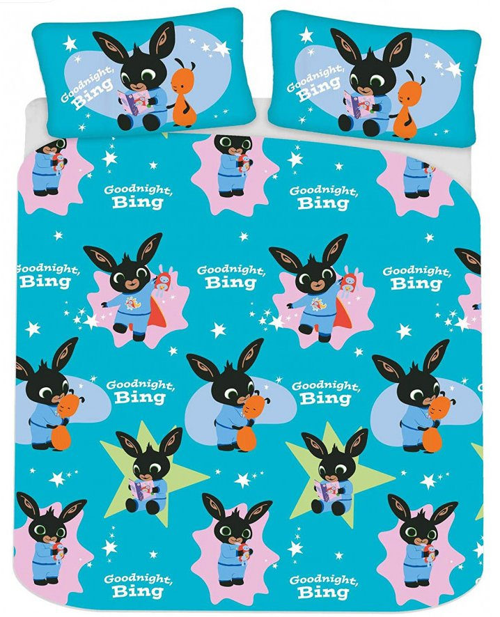 BING BUNNY ~ 'Woosh' Double/Queen Bed Quilt Cover Set