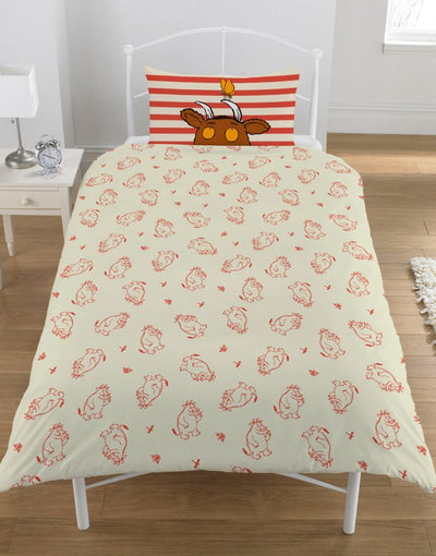 GRUFFALO ~ 'Oh Help' Single Bed Quilt Cover Set