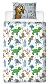 TOY STORY ~ 'Roar' Single Bed Reversible Panel Quilt Set