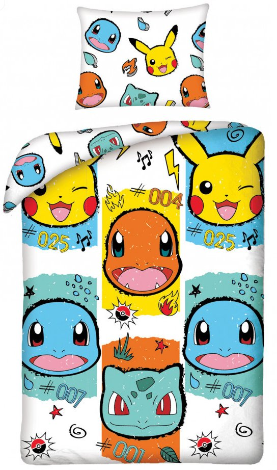 POKEMON ~ 'White' Single Bed Quilt Cover Set