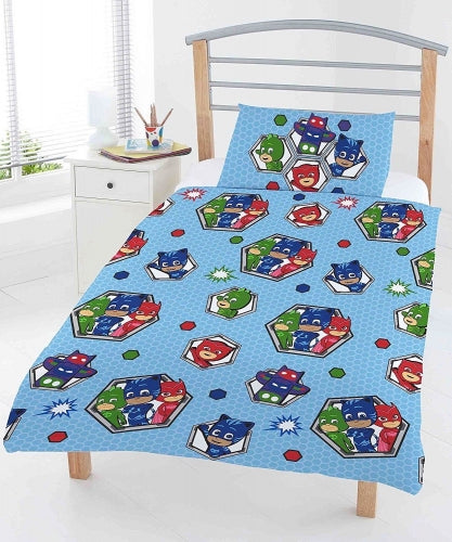 PJ MASKS ~ 'Badges' Toddler/Cot Bed Quilt Set