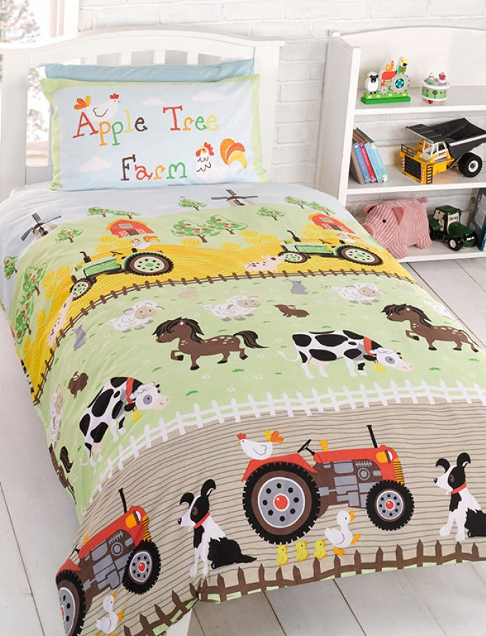 APPLE TREE FARM ~ Toddler/Cot Bed Quilt Cover Set