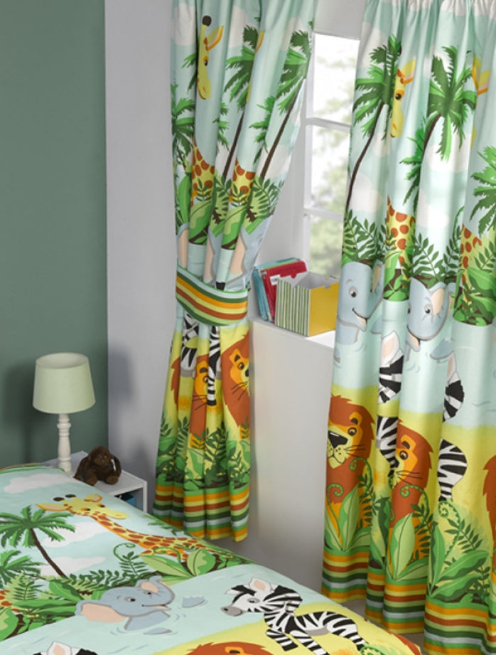 JUNGLE-TASTIC ~ Ready Made Lined Curtains