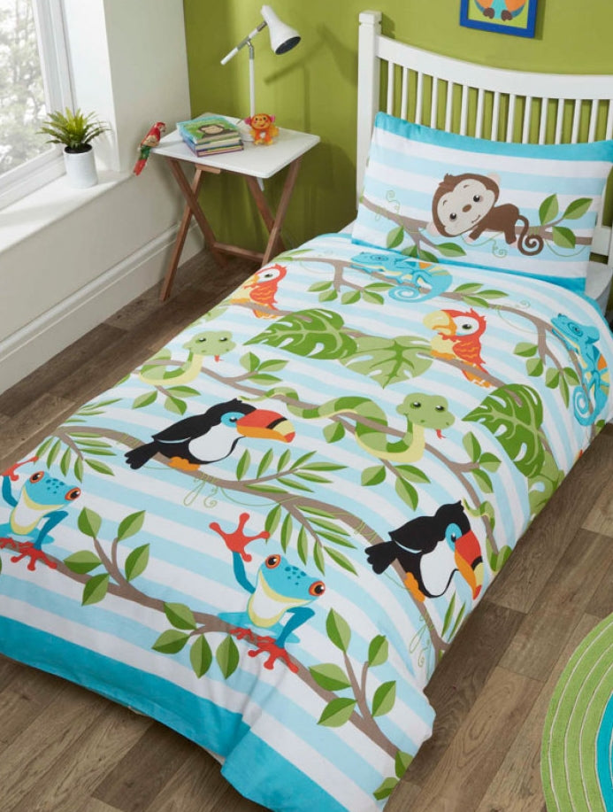 RAINFOREST ~ Toddler/Cot Bed Quilt Cover Set
