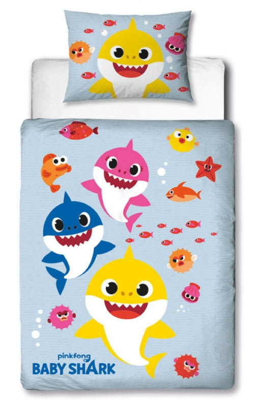BABY SHARK ~ 'Fishes' Toddler/Cot Bed Quilt Cover Set