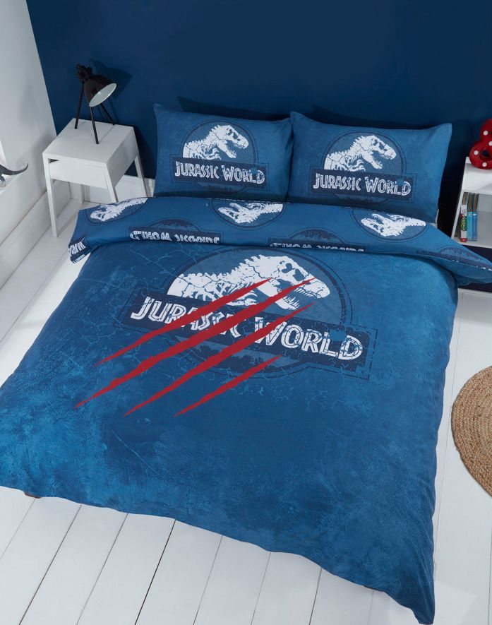 JURASSIC WORLD ~ 'Claws' Double/Queen Bed Quilt Cover Set