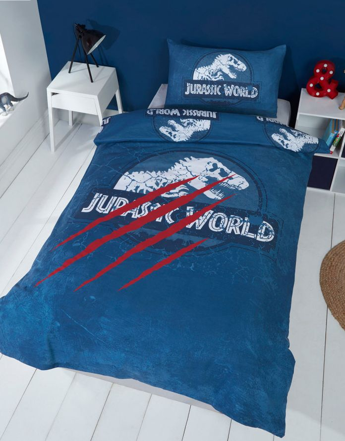 JURASSIC WORLD ~ 'Claws' Single Bed Panel Quilt Cover Set