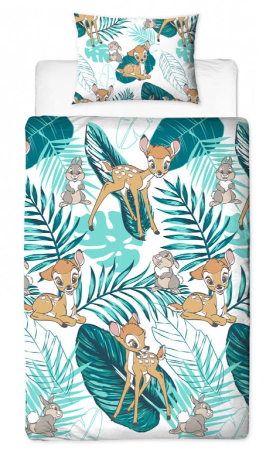 BAMBI ~ 'Palm' Single Bed Reversible Quilt Set