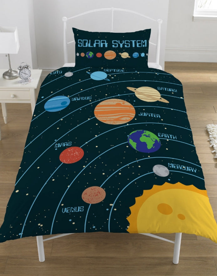 SOLAR SYSTEM ~ 'Planets' Single Bed Quilt Cover Set