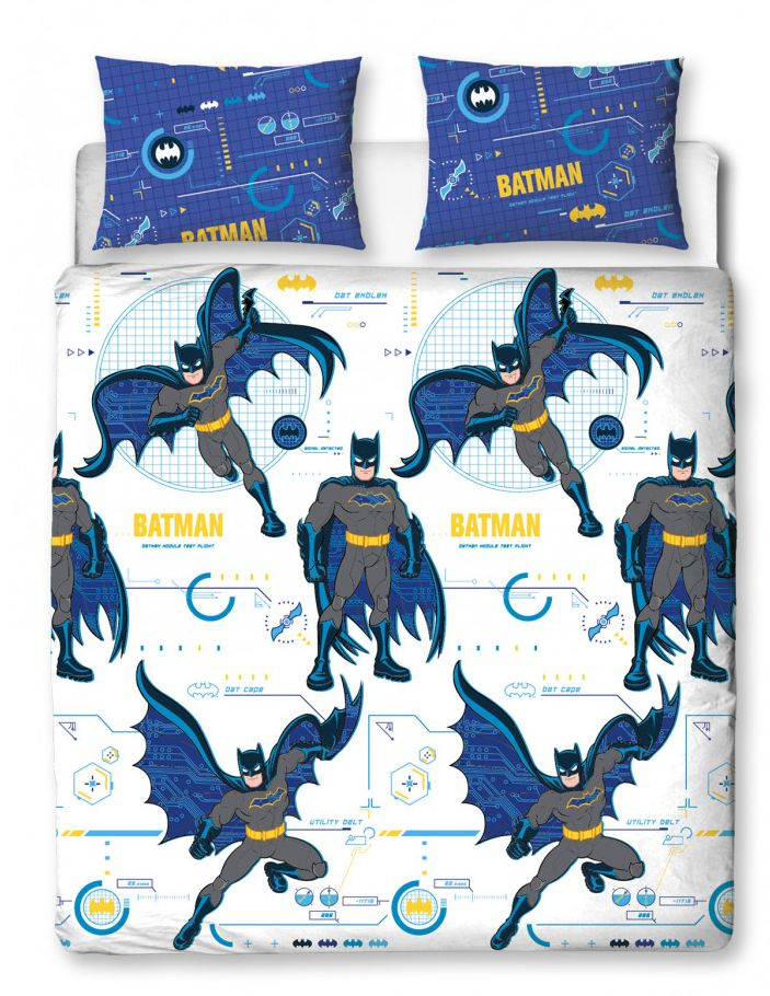 BATMAN ~ 'Tech' Double/Queen Bed Quilt Cover Set