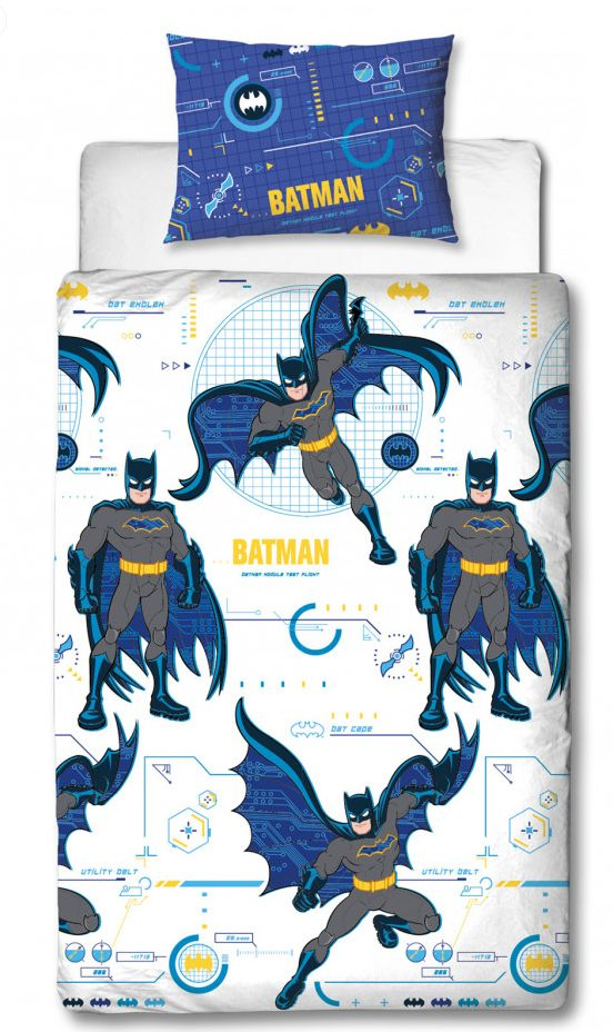 BATMAN ~ 'Tech' Single Bed Quilt Cover Set