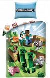 MINECRAFT ~ 'Battle' Single Bed Quilt Cover Set