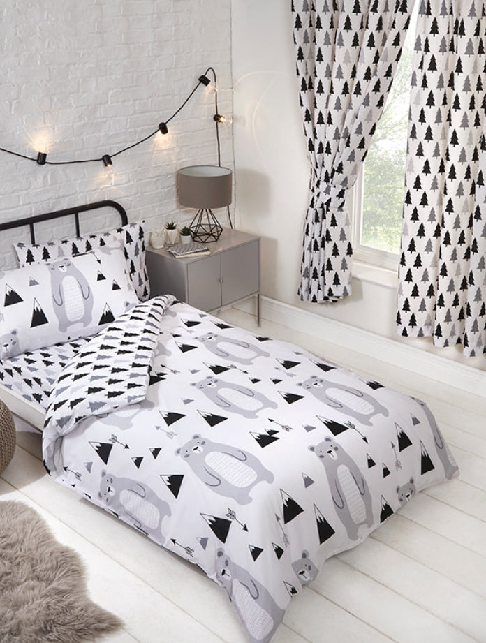 SCANDI BEAR ~ Toddler/Cot Bed Quilt Cover Set
