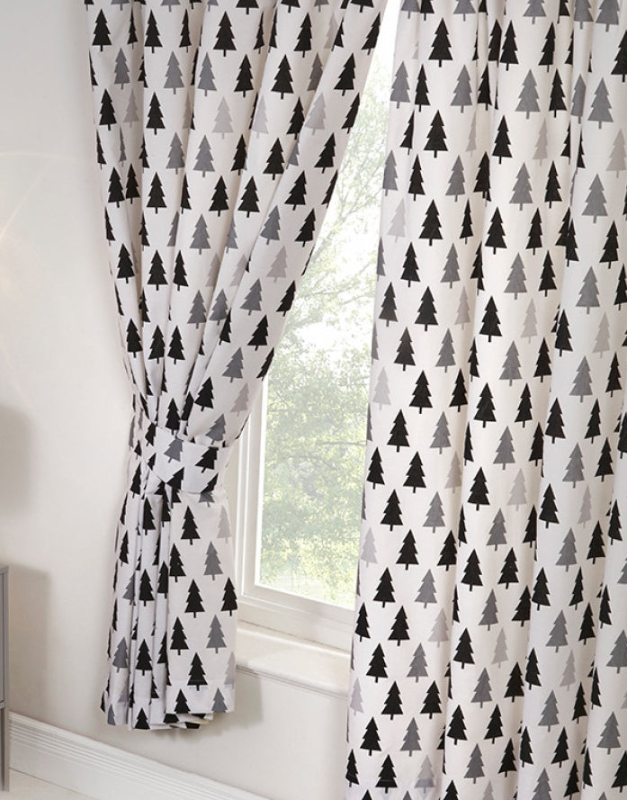 SCANDI BEAR ~ Ready Made Lined Curtains