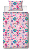 TROLLS ~ 'Concert' Single Bed Reversible Quilt Set