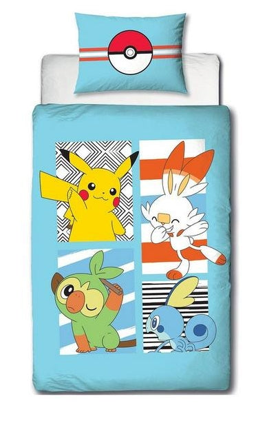 POKEMON ~ 'Jump' Single Bed Panel Quilt Cover Set