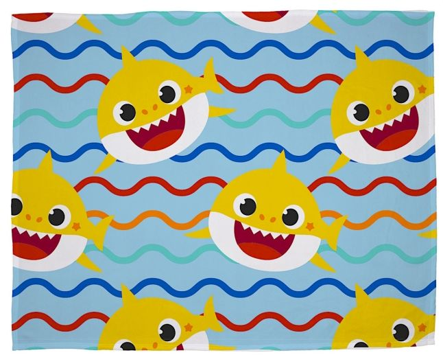 BABY SHARK ~ 'Rainbow' Coral Fleece Blanket